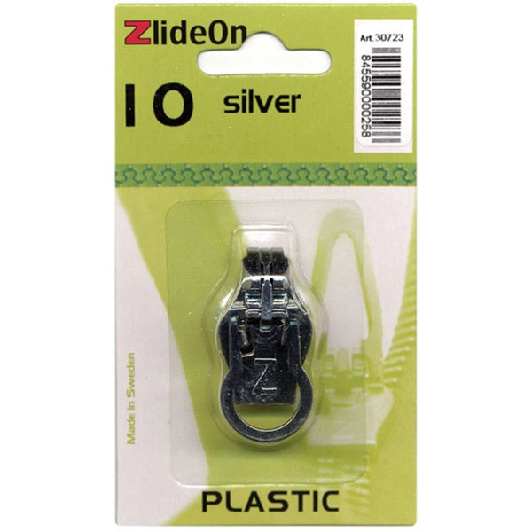ZlideOn Plastic Size 10 Silver Zipper Pull Replacement