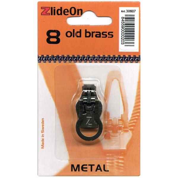 ZlideOn Metal Size 8 Old Brass Zipper Pull Replacement