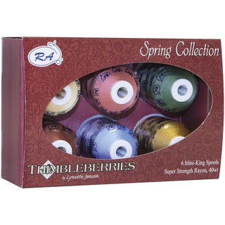 Thimbleberries Rayon Thread Spring Collections (Pack of 6)