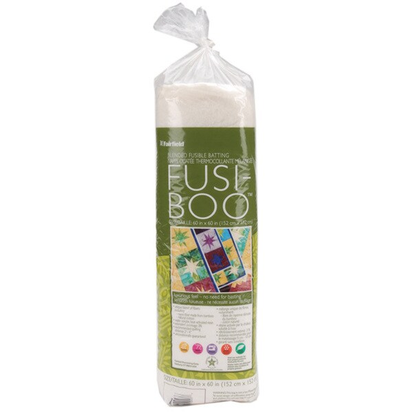 Fusi-Boo Cotton/Rayon/Rayon from Bamboo Fusible Low-loft Needle-punched Batting