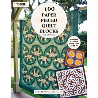 Leisure Arts '100 Paper Pieced Quilt Blocks' Quilting Book with CD