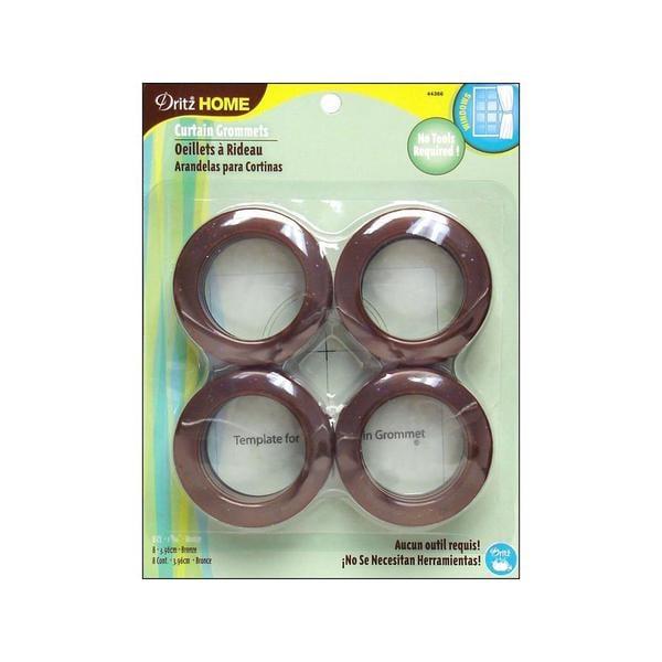 Shop Dritz Bronze-colored Plastic Curtain Grommets (Pack