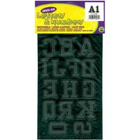 Dritz Soft Flock Black Iron-on Collegiate Letters & Numbers (1.75-inch)