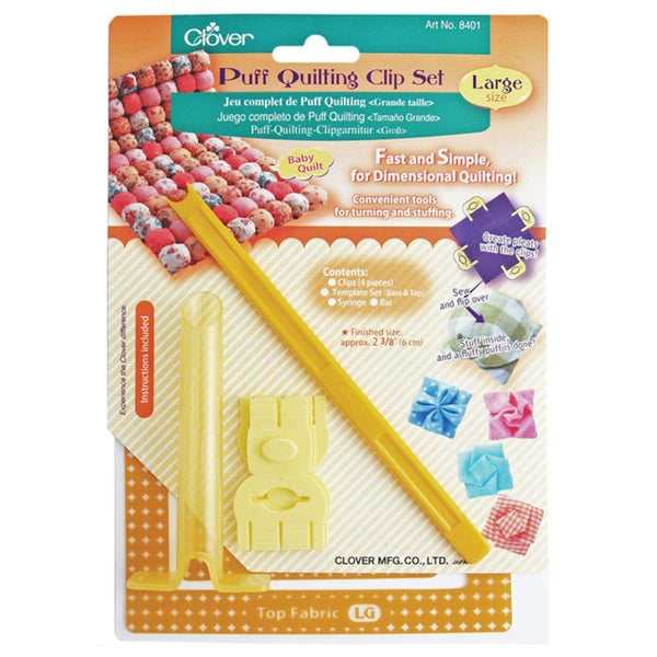 Clover Large Puff Quilting Clip Set