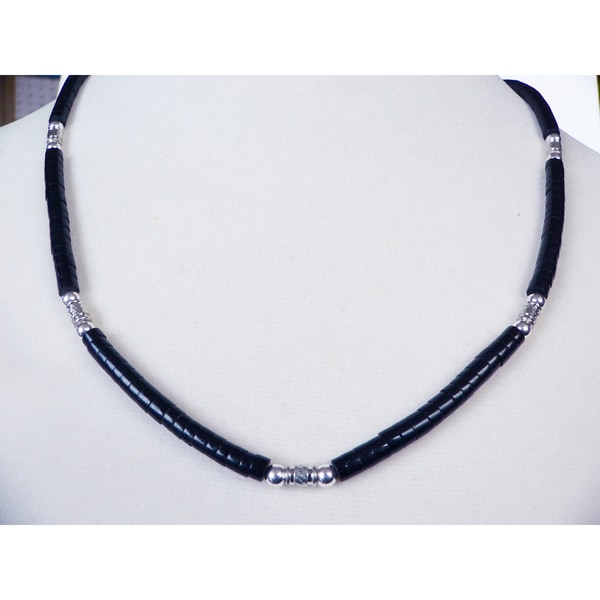 'Gentleman's' Black Necklace