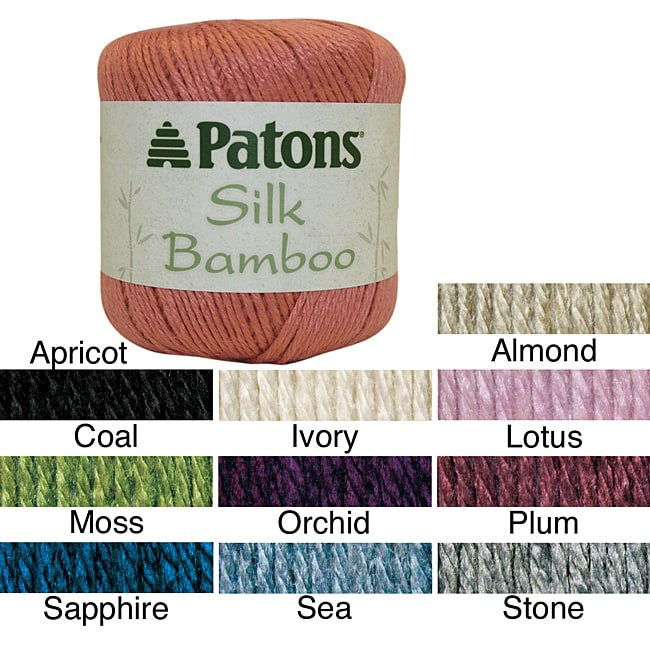 Patons Silk Rayon from Bamboo 1.8-ounce Blended Yarn with Drape (102 Yards)