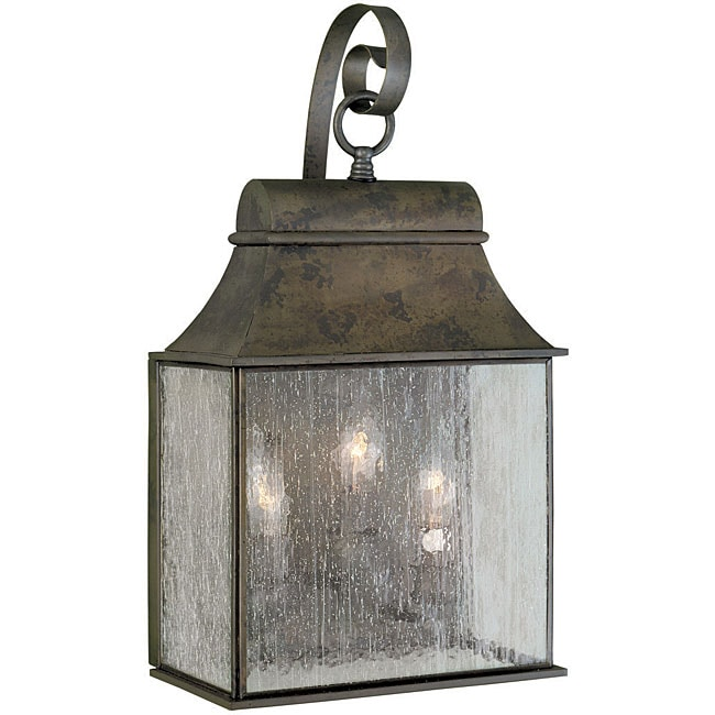 External Lantern Wall Lights : World Imports Revere Collection Outdoor 3-Light Wall Lantern - Free Shipping Today - Overstock ...