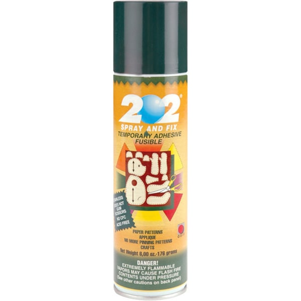 Spray and Fix '202' 6-ounce Temporary Paper Adhesive