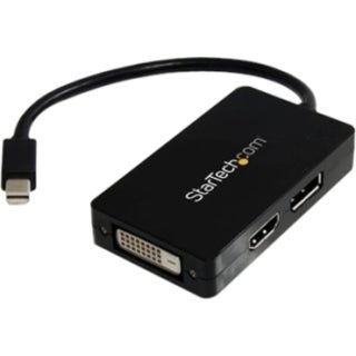 StarTech.com Travel A/V adapter - 3-in-1 Mini DisplayPort to DisplayP