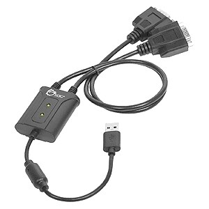 SIIG 2-Port USB to RS-232 Serial Adapter Cable