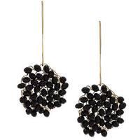 NEXTE Jewelry Goldtone Oynx Swirling Cyclone Earrings