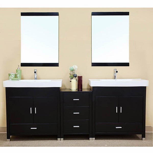 Shop Visconti Wooden 80 7 Inch Double Bathroom Vanity