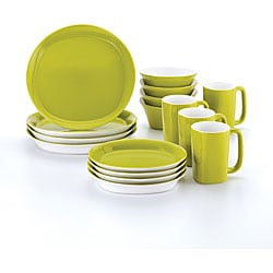 Rachael Ray 16-piece Round and Square Green Dinnerware Set