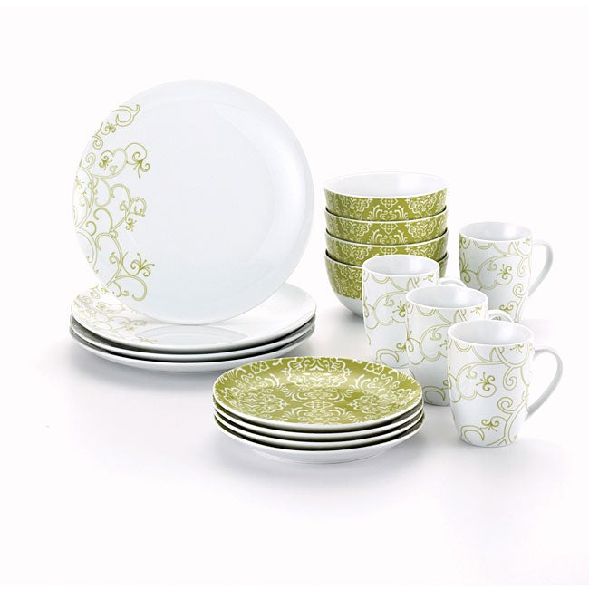 Rachael Ray 16-piece Curly-Q Dinnerware Set