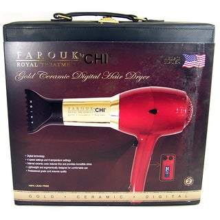 Farouk CHI Royal Treatment Gold Ceramic Digital Hair Dryer
