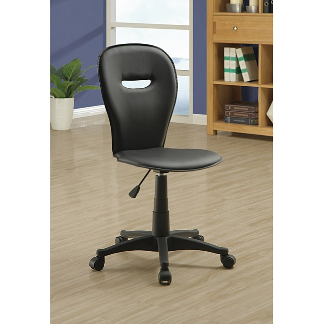 Shop Black Open Back Office Chair   Free Shipping Today   Overstock.com    6270697