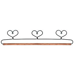 Hearts 15-inch Dowel Fabric Holder