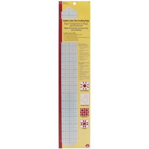 Dritz Quilting See-through Drafting Ruler