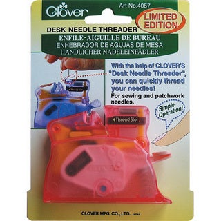 Clover Pink Desk Needle Threader