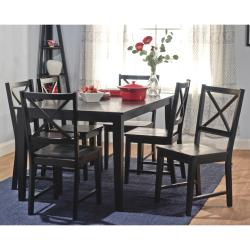 Simple Living Black Cross Back Dining Chairs (Set of 2) - Thumbnail 1