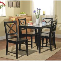Simple Living Black Cross Back Dining Chairs (Set of 2) - Thumbnail 2