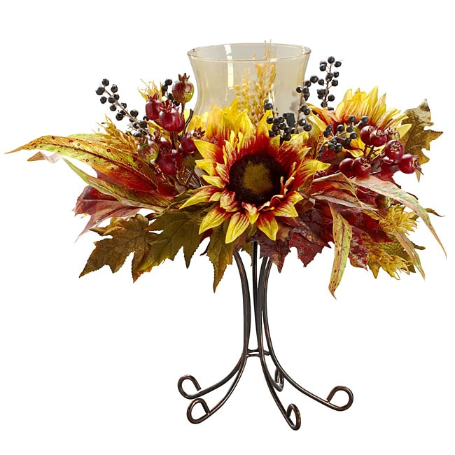 Autumn Sunflower Candelabrum