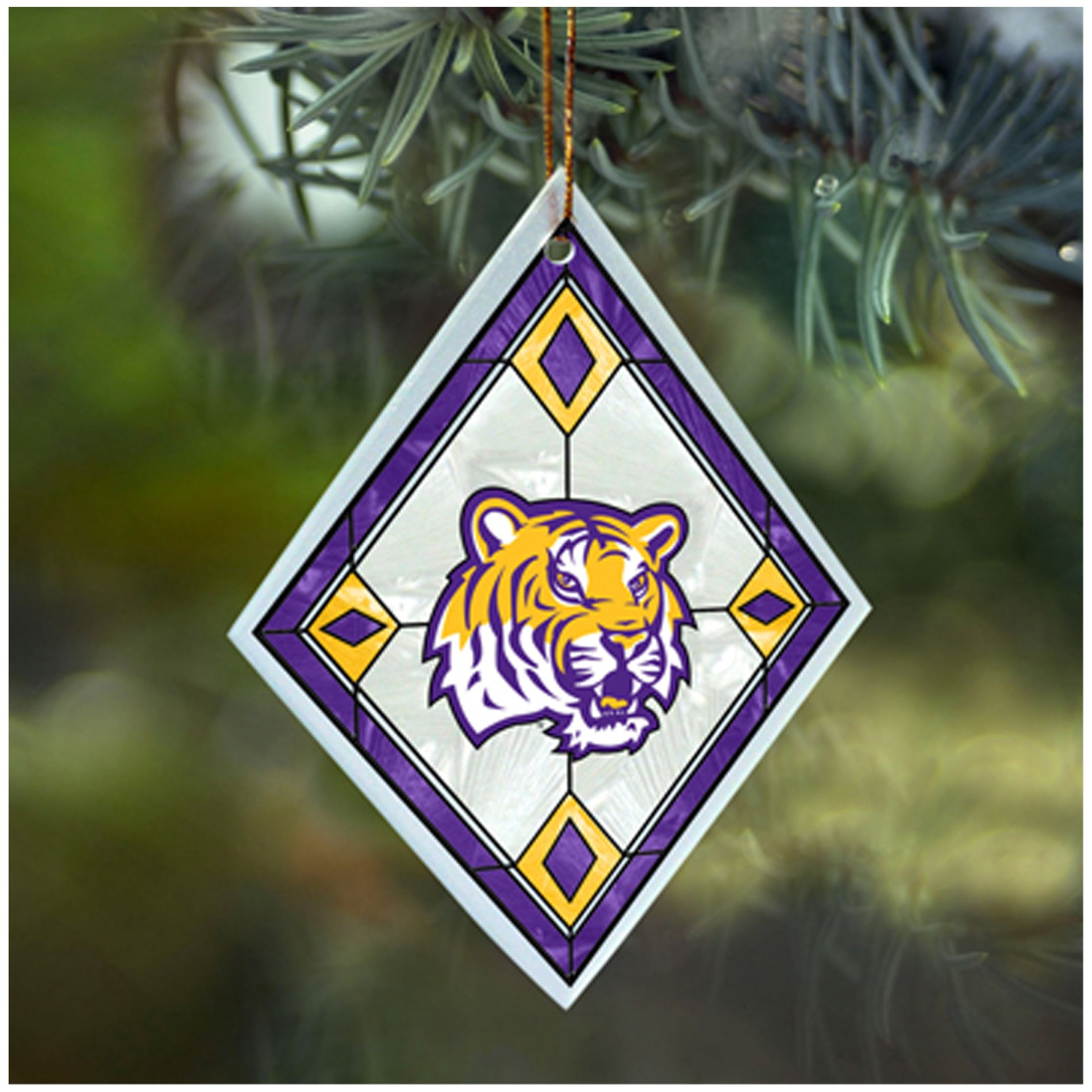 Forever Collectibles LSU Tigers NCAA Art Glass Ornament