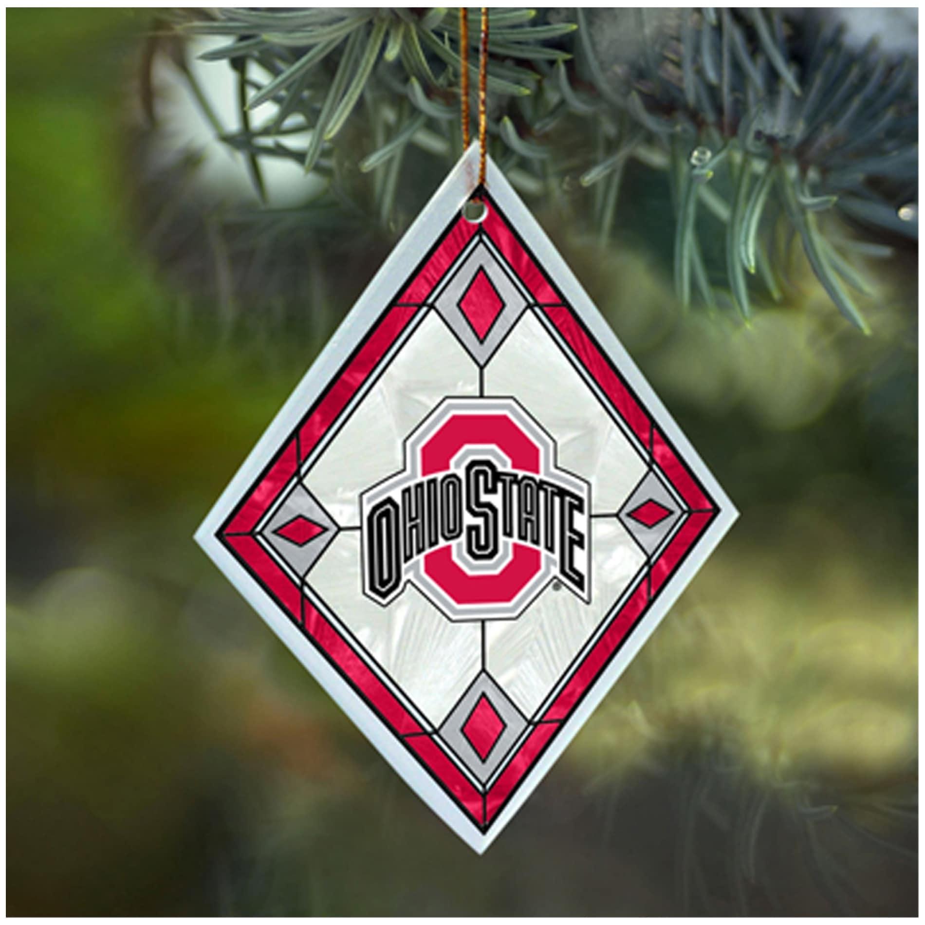 Ohio State Buckeyes NCAA Art Glass Ornament