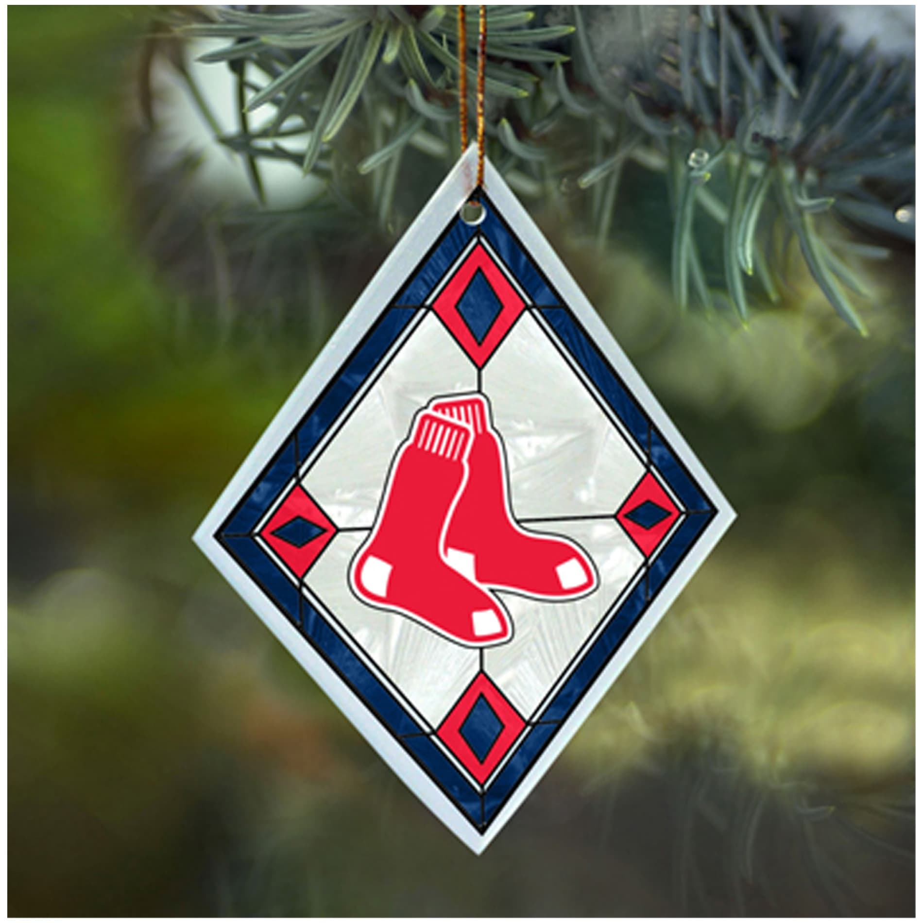 Boston Red Sox MLB Art Glass Ornament