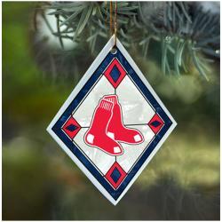 Boston Red Sox MLB Art Glass Ornament - Thumbnail 0