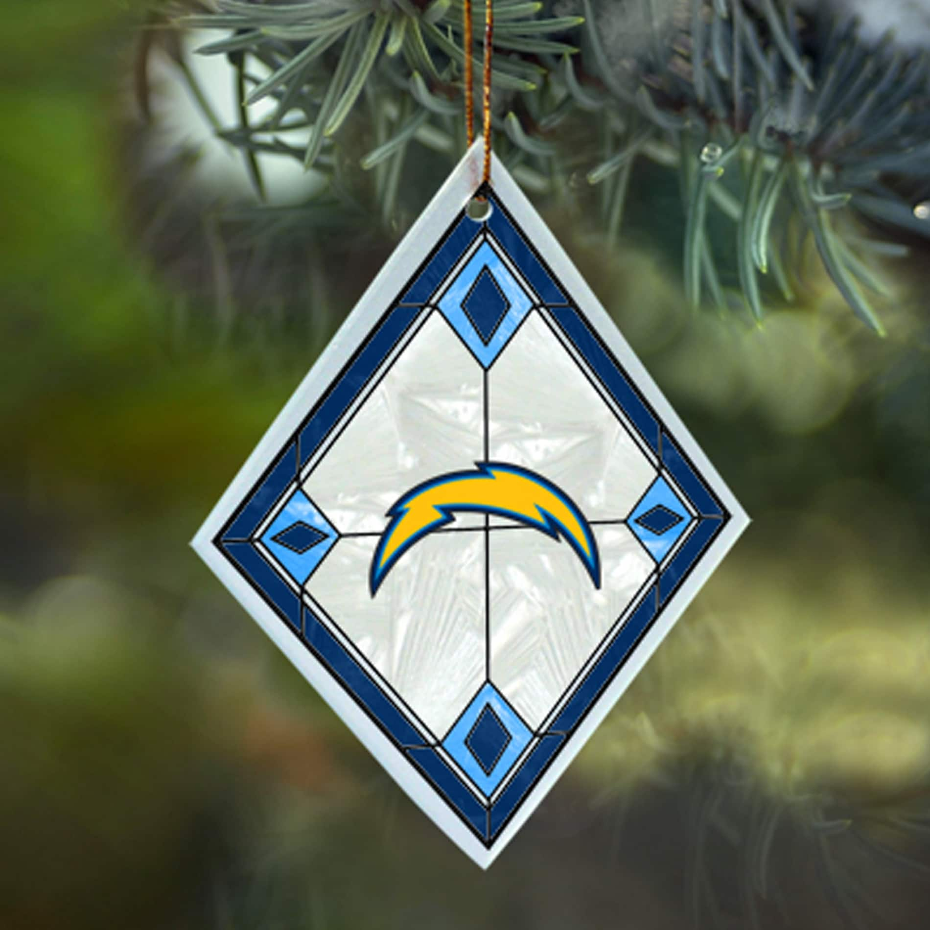 San Diego Chargers NFL Art Glass Ornament