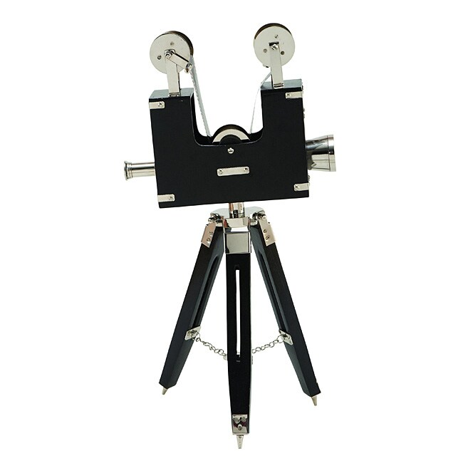 Chrome Vintage Brass 20-inch Decorative Projector with Tripod