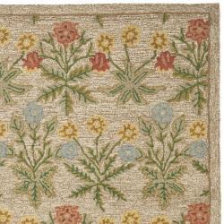 Safavieh Handmade Blossom Beige Contemporary Wool Rug (5' x 8') - Thumbnail 1