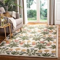 Safavieh Handmade Blossom Beige Contemporary Wool Rug - 5' x 8'