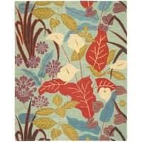 Safavieh Handmade Blossom Blue Wool Rug - 8' x 10'