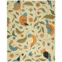 Safavieh Handmade Blossom Swallow Sage Wool Rug (5' x 8') - 5' x 8'