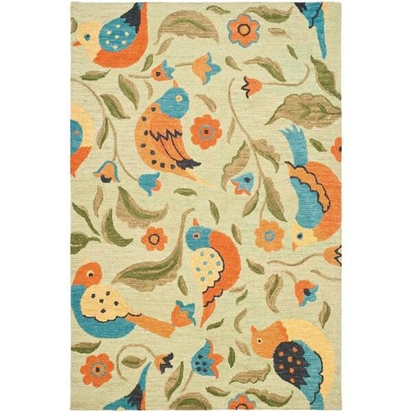 Safavieh Handmade Blossom Swallow Sage Wool Rug