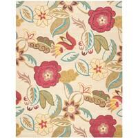 "Safavieh Handmade Blossom Paisley Beige Wool Rug - 8'-9"" X 12'"