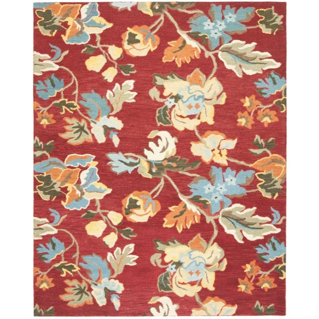 Safavieh Handmade Blossom Red Wool Area Rug - 8'9' x 12'