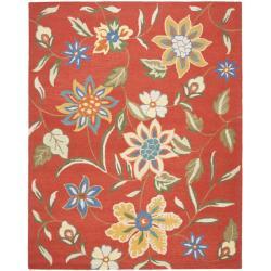 Safavieh Handmade Blossom Rust Wool Area Rug (5' x 8')