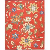 Safavieh Handmade Blossom Rust Wool Area Rug - 8' x 10'