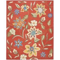 Safavieh Handmade Blossom Rust Wool Rug - 8'9 x 12' - Thumbnail 0