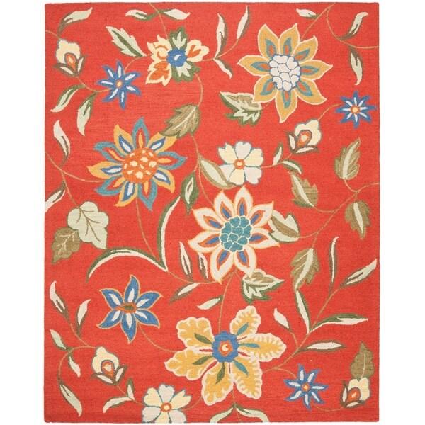 "Safavieh Handmade Blossom Rust Wool Rug - 8'-9"" x 12'"