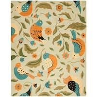 "Safavieh Handmade Blossom Swallow Sage Wool Rug - 8'9"" x 12'"