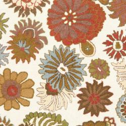 Safavieh Ivory Blossom Handmade Wool Area Rug (8' 10') - Thumbnail 2