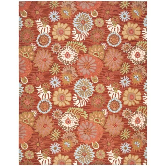 Safavieh Handmade Blossom Red Wool Rug (5' x 8')