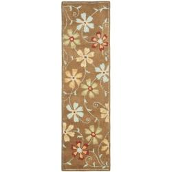 Safavieh Handmade Blossom Camel Wool Rug (2'3 x 8')