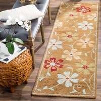 "Safavieh Handmade Blossom Camel Wool Rug (2'3 x 8') - 2'3"" x 8'"