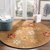 Safavieh Handmade Blossom Camel Wool Rug - 6' x 6' Round