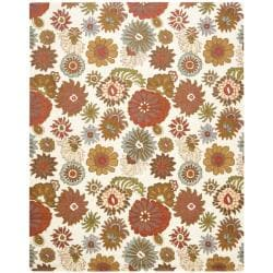 Safavieh Handmade Blossom Ivory Wool Rug - 8'9 x 12' - Thumbnail 0